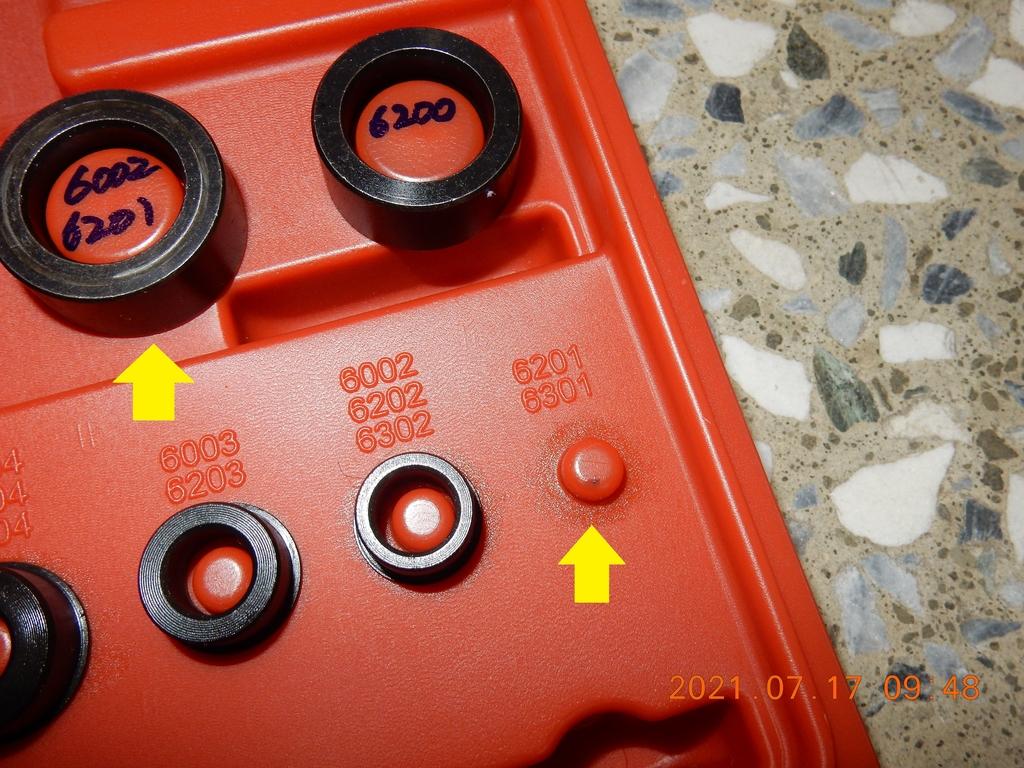 JET POWER EVO前輪鋼圈軸承拆解保養8786