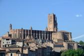 法國西南遊 6:006 Albi-Saint Cecile教堂-全法國最大紅磚造教堂(車上).jpg