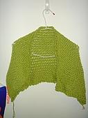 毛線成品:帶金蔥綠色披肩.JPG