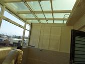 玻璃屋:頭份頂樓晾衣間鋁+鋼玻璃屋