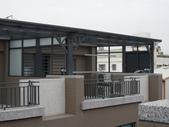 玻璃屋:新竹市西大路社區頂樓玻璃屋採光罩