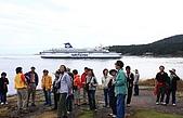 同學會 (二) Galiano Island 嘉利安諾島:海上行渡輪,天上一隻白頭鷹