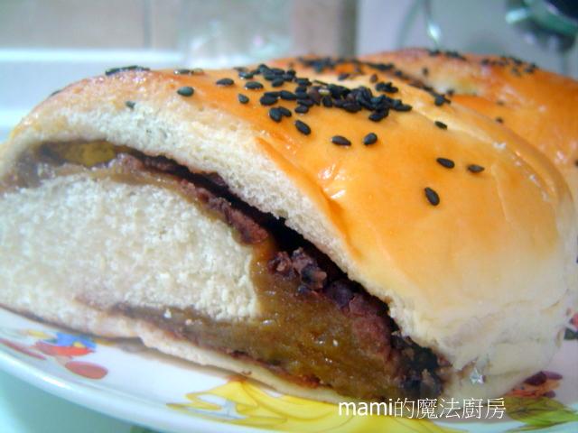 麵包の作品:172紅豆黑糖麻糬麵包.JPG