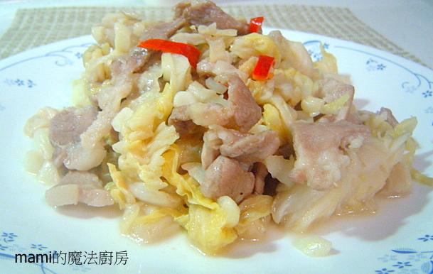 天然醃漬:酸高麗菜炒肉片-2.JPG
