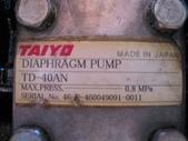 ARO白鐵幫浦,隔膜泵浦,氣動幫浦,air pump:TAIYO~氣動隔膜泵浦,材質白鐵316,口徑1.5'',DIAPHRAGM PUMP~日本進 (型式名牌)