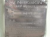 白鐵食品泵浦,NAKAKIN PUMP,中村轉子幫浦,nakakin rotary pump:食品轉子泵,口徑1.5吋,壓力10公斤,材質白鐵316,型式JM25T-VT-C,日本進中村NAKAKIN SANITARY ROTARY PUMP