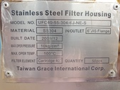 過濾機,過濾器,過濾桶,濾水機:白鐵濾過機,精密過濾器,濾心40吋 x 55支 FILTER HOUSING