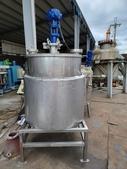 攪拌反應釜/反應槽/雙層攪拌桶/衛生級攪拌機//加熱攪拌桶:氣動攪拌雙層桶,容量300L