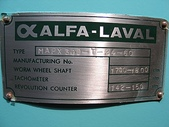 ALFA LAVAL油水分離離心機,澄清機,固液分離機:ALFA-LAVAL,MAPX309,三態連續式油水分離機 馬力15HP (名牌)