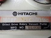 油式真空幫浦,HITACHI ROTARY OIL VACUUM PUMP:油式真空幫浦,馬力0.5HP,真空量每分鐘174L,型式160VP,日本進HITACHI ROTARY OIL VACUUM PUMP