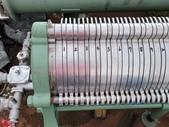 過濾器,濾過機,板片過濾機-協和機械工業株式会社:食品板片過濾機,板片直徑38公分 x 71片,白鐵濾網35片,承接固體35片,檔板1片,日本進協和機械工業株式會社