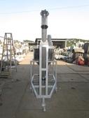 粉粒送料機,螺旋輸送機,皮帶輸送機,送料機:漏斗220L + 螺旋輸送機,管徑4吋,出口離地高度191公分,馬力2HP