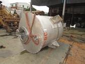 白鐵桶,粉粒桶,儲料桶,尖底槽:白鐵尖底粉粒桶,直徑110公分,桶身長126公分,尖底長92公分