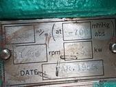 外匯真空幫浦,粟村製作所AWAMURA:水封真空幫浦,馬力7.5HP,型式40EVM45311,日本進粟村製作所AWAMURA MFG.CO.,LTD.
