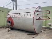 白鐵桶,雙層夾套加熱桶,盤管加熱桶,中古不鏽鋼冷卻桶:白鐵桶,不鏽鋼內盤管保溫桶,容量19噸