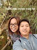 石碇傳統手工麵線相片集,讓您認識手工麵線,認識傳統手工:石碇皇帝殿-往東峰勉強的笑容.JPG