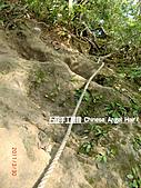 石碇傳統手工麵線相片集,讓您認識手工麵線,認識傳統手工:石碇皇帝殿-往東峰第一段堅難的路.JPG