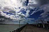淡水漁人碼頭 ● 情人塔 :中秋颱風天的漁人碼頭