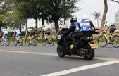 2014國際自由車環台公路大賽:電視台隨隊重機採訪車
