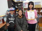 100年度校學志工頒獎:貓頭鷹圖書室志工獎狀-感謝有志的媽媽為學校無私的奉獻,辛苦您了.JPG