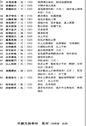 楊家老架楊氏太極劍劍譜 At 圓活太極108 隨意窩xuite日誌